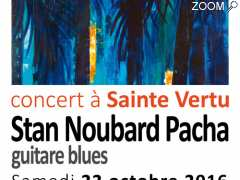 picture of Le guitariste de blues Stan Noubard Pacha en concert à Sainte Vertu